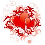Сердечки в узорах