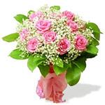 Букет из розовых роз от OSETINKA