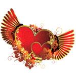 Сердечки с крыльями