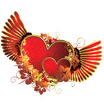 Сердечки с крыльями от Galina52
