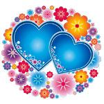 Сердечки в цветочках