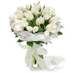 Букет из белых тюльпанов от georyne
