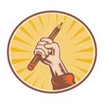 Рука с карандашом от qwertyuiopasdfg